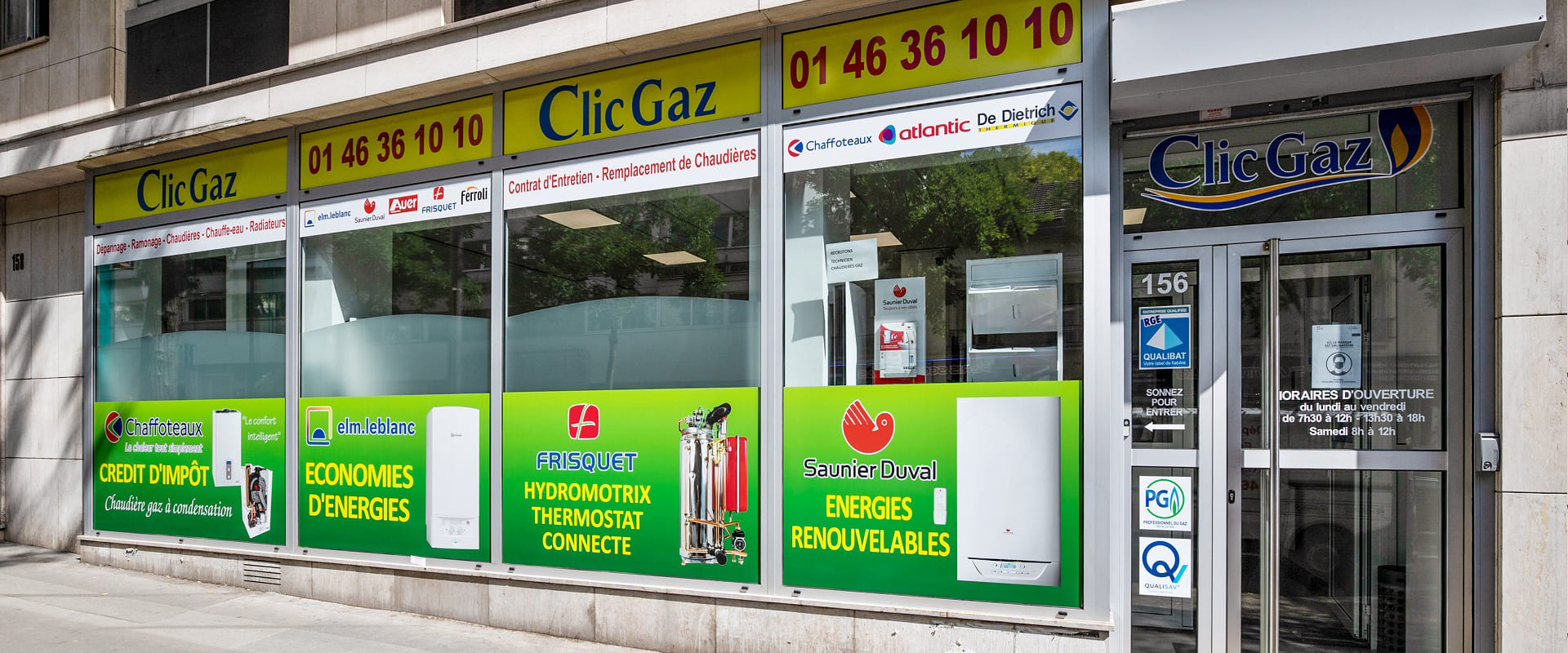 Visuel slider devanture magasin - ramonage de chaudiére gaz paris 20